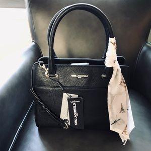 KARL LAGERFELD Paris satchel crossbody Leather